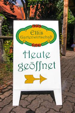 Öffnungszeiten - Elli's Gartenwirtschaft